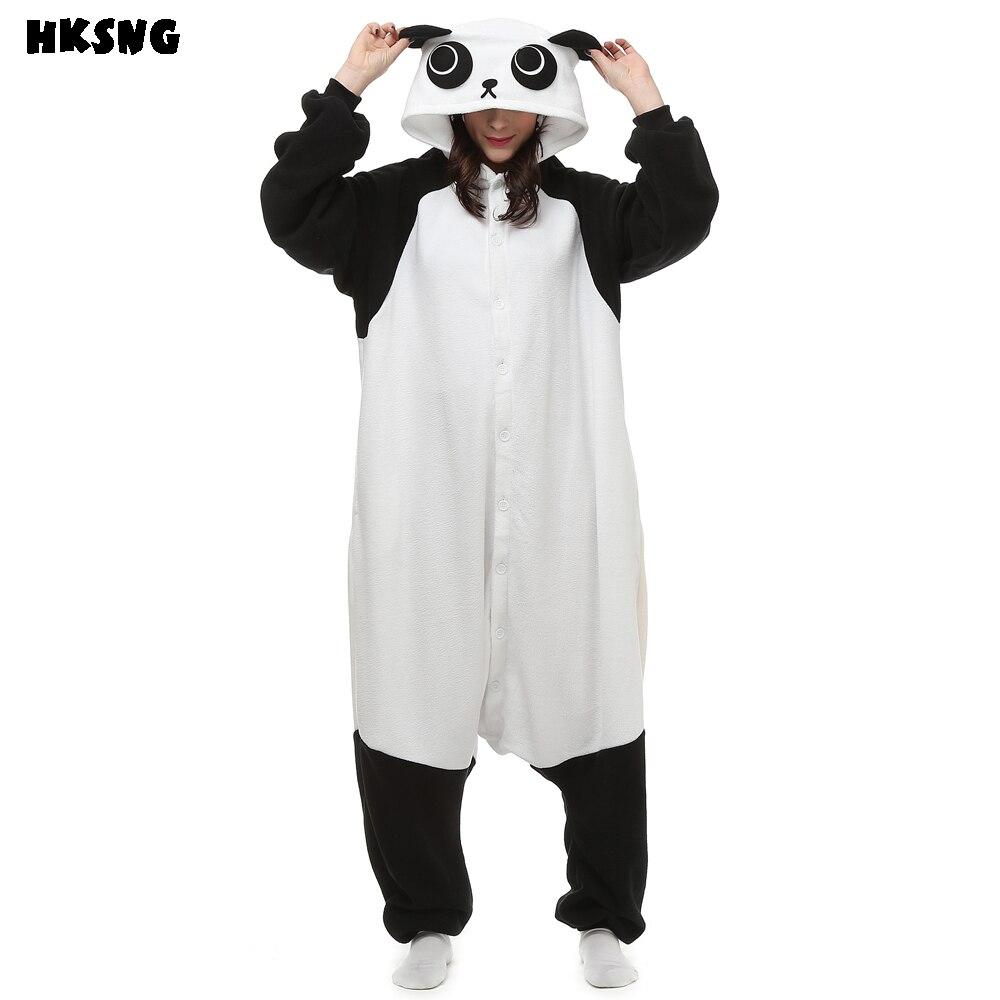 HKSNG мультфильм Кунг-фу Панда Пижамы Footie Комбинезоны животные кигуруми косплей Хэллоуин Рождество одежда для сна костюм для взрослых