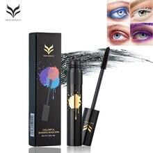 HUAMIANLI White Black Mascara Waterproof Eye Makeup Lengthening Curling 3D Fiber Lash Mascara Volume Eyelash Extension Mascara