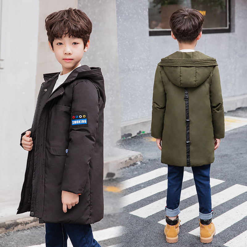 85327a36d1cb Kids Winter Coats Cotton Down Jackets For Boys Teenagers Hooded ...
