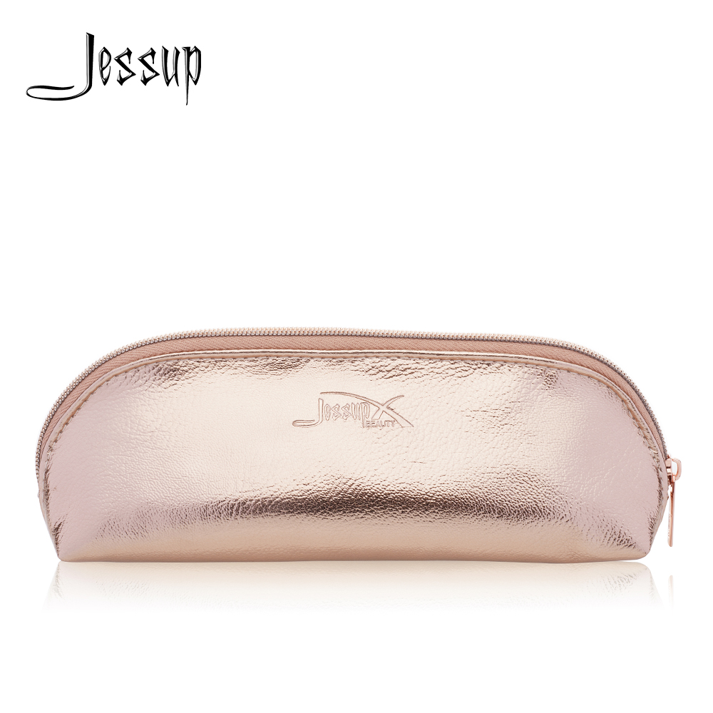 Jessup Golden Cosmetic bag set for Makeup accessories Women bags Make up tools Travel beauty case CB008