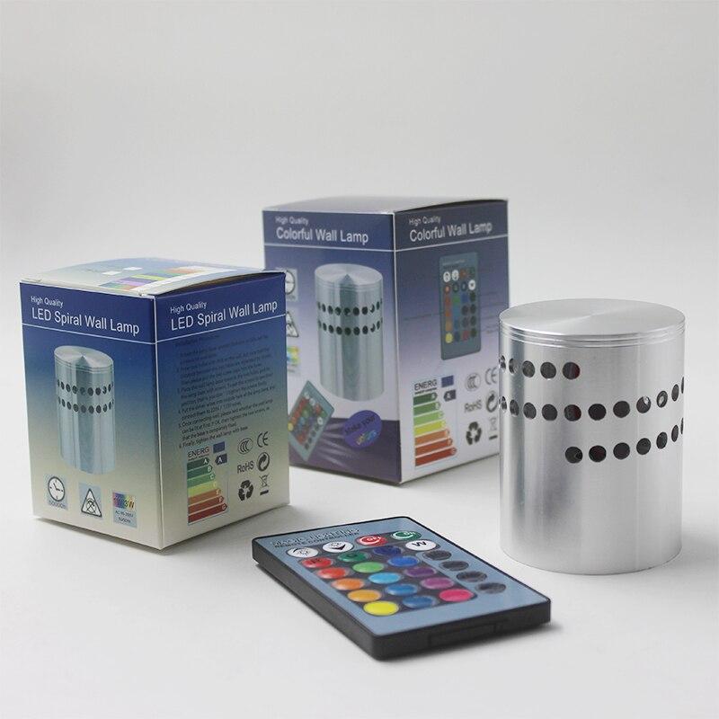 Einfache und Schnelle Montage 3 Watt LED Wandleuchte Wandleuchte AC85-265V Aluminium Wand/Deckenmontage Beleuchtung Leuchte Licht für KTV Bar
