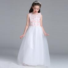 LP-67 New Fashion Girls Dress Wedding dress color Powder Flower Princess Dress