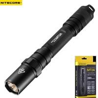 Nitecore MT2A Flashlight CREE XP G R5 LED 3 Mode Flashlight 280 lumens Mini LED Torch Nitecore Flashlight Not Battery