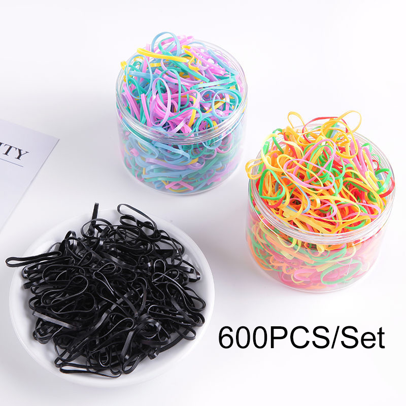 2000/600pcs/bag Child Baby Gum for Hair TPU Disposable Elastics Hair Bands Girls Ponytail Holder Rubber Bands Hair Accessories(China)