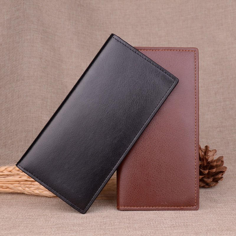 RU&BR Classic Casual Men Wallets New Fashion Leather Wallet Hot Sale Business Mens Purse Designer Long Card Holder Creative