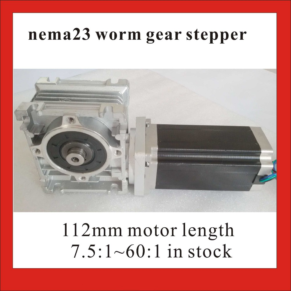 NEMA 23 Worm Reducer Stepper Motor 5 1 80 1 RV30 Worm Reducer with 112mm Length