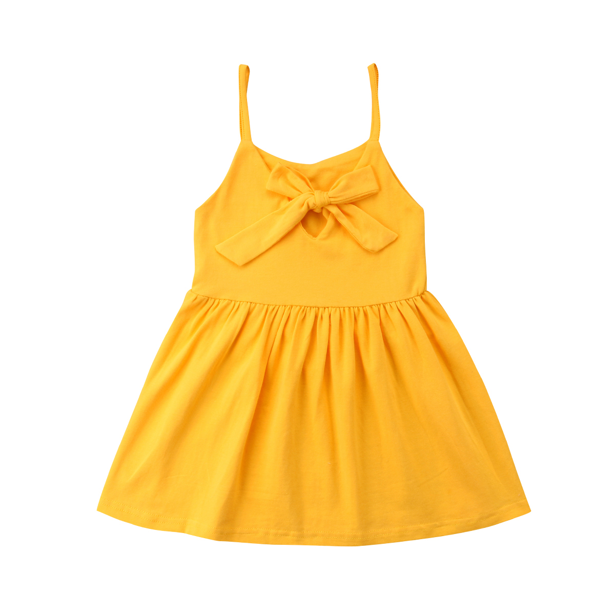 493453f2f2f77 Summer Strap Dress Newborn Infant Baby Girl Bow-knot Princess Party  Sundress Casual Outfits