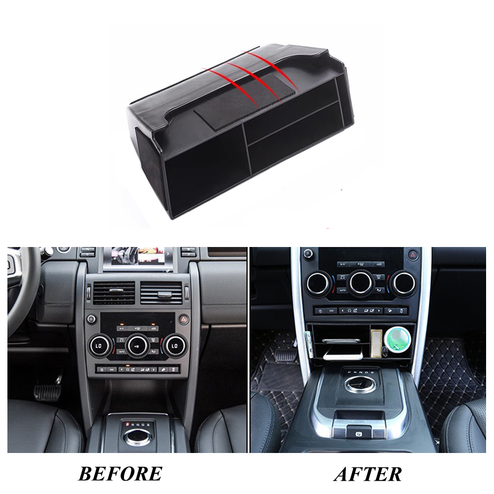 JEAZEA Car Central Console Multifunction Storage Box Phone Tray Accessory For Land Rover Discovery Sport 2015 2016 2017 2018