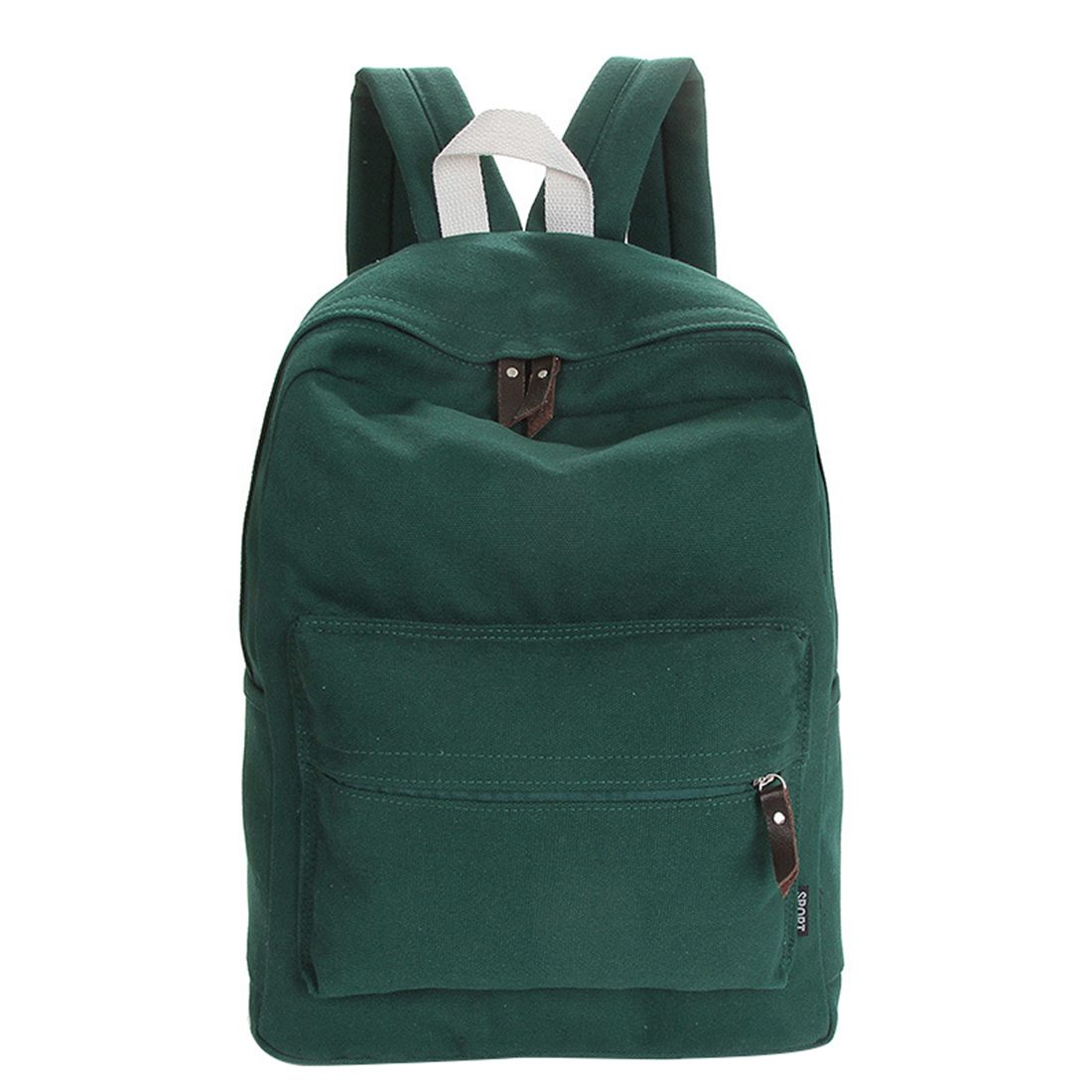 Womanbags Canvas Backpack School Girls And Boys Unisex Backpack Shoulder Bag
