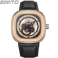 GIMTO Sports Watches Men Quartz Waterproof Watch Reloj Hombre Men Leather Men S Watches Best Luxury