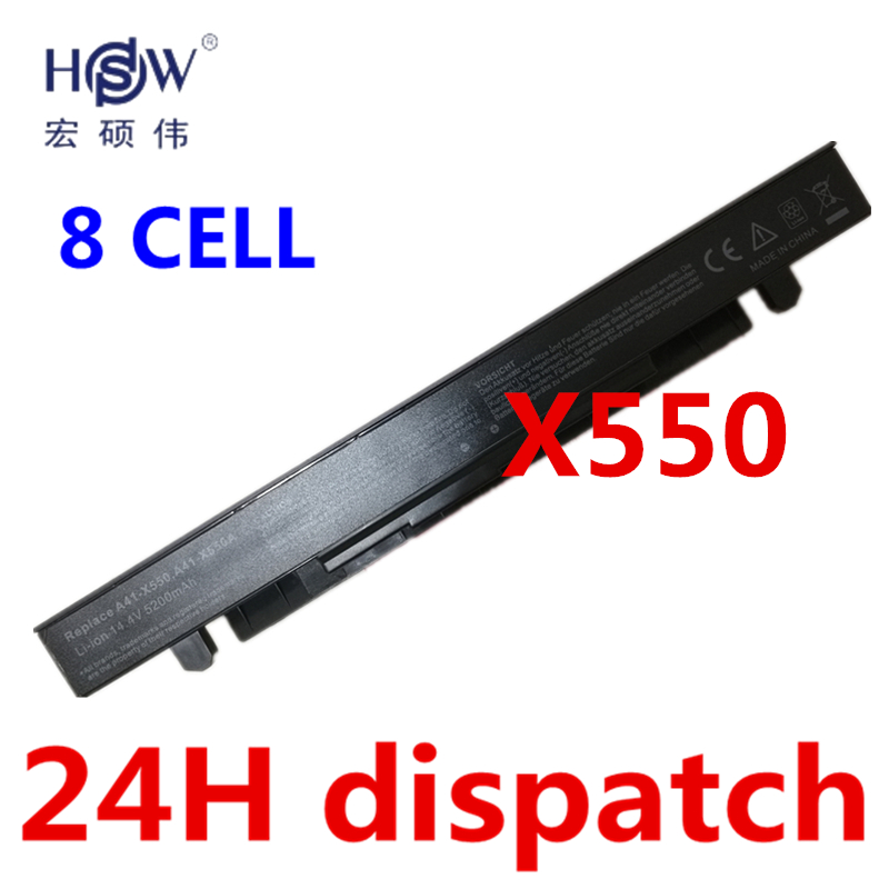 HSW Laptop Battery for ASUS A41-X550 A41-X550A A450 A550 F450 F550 F552 K450 K550 P450 P550 R409 R510 X450 X452C X550