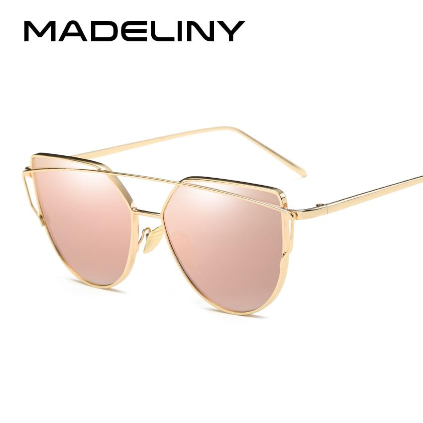 Designer de marca Óculos De Sol Das Mulheres Revestimento de Óculos de Sol  Reflexivos Vidros Do Olho de Gato Do Vintage Da Moda de Luxo Óculos MA366 b7ff1be5d2