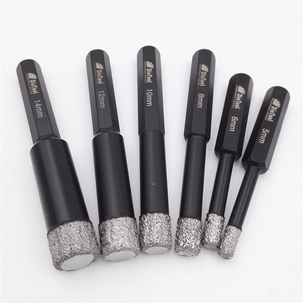 2pcs Dry drilling bits with Hex shank for granite marble ceramic tile glass Vacuum Brazed diamond drill bits