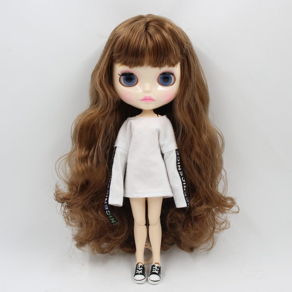 "Takara 12/"" Blythe Neo  Transparent skin nude doll form factory   13#"