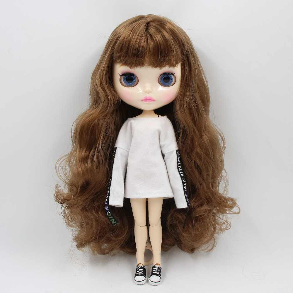 Fábrica de GELO blyth boneca 1/6 BJD blyth neo 30 cm matte faceplate personalizado corpo conjunta com as mãos AB oferta especial na venda