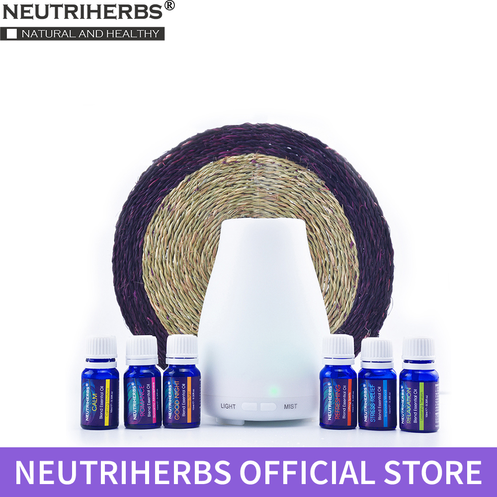 6pcs Neutriherbs Compound Essential Oils Body Massage Oil for Aromatherapy Diffusers Fragr
