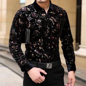 Image 2 - Mu Yuan Yang chemise en flanelle pour hommes, chemise formelle à manches longues, noire, vêtement de marque, grande taille 3XL, 2020 off