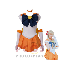 ProCosplay Sailor Moon Sailor Venus Cosplay Costume free shipping and high quality costume for women 000348