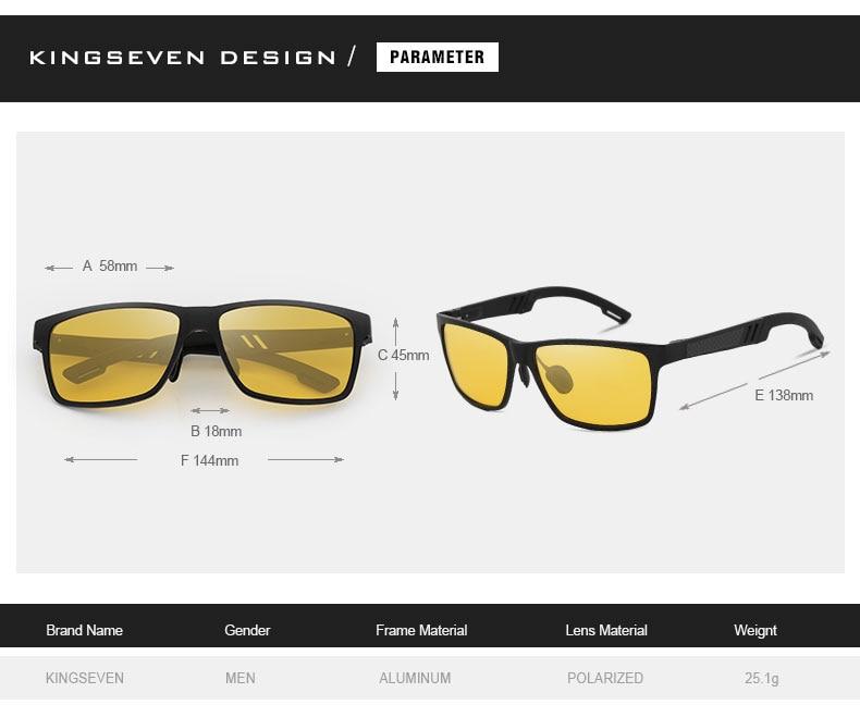 KINFSEVEN Fashion Aluminum Magnesium Polarized Night vision Sunglasses Men Sun Glasses UV400 Driving Eyewear oculos Shades 3