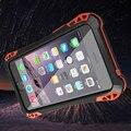 Pequeño cintura firber carbono cubierta de la caja a prueba de choques impermeable de aluminio de cristal templado para apple iphone 5 5s original de la marca r-sólo