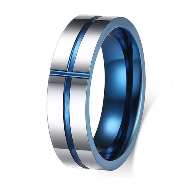 Men Women's 6MM Cross Designer Tungsten Wedding Engagement Band Rings Alliance Bridal Jewelry