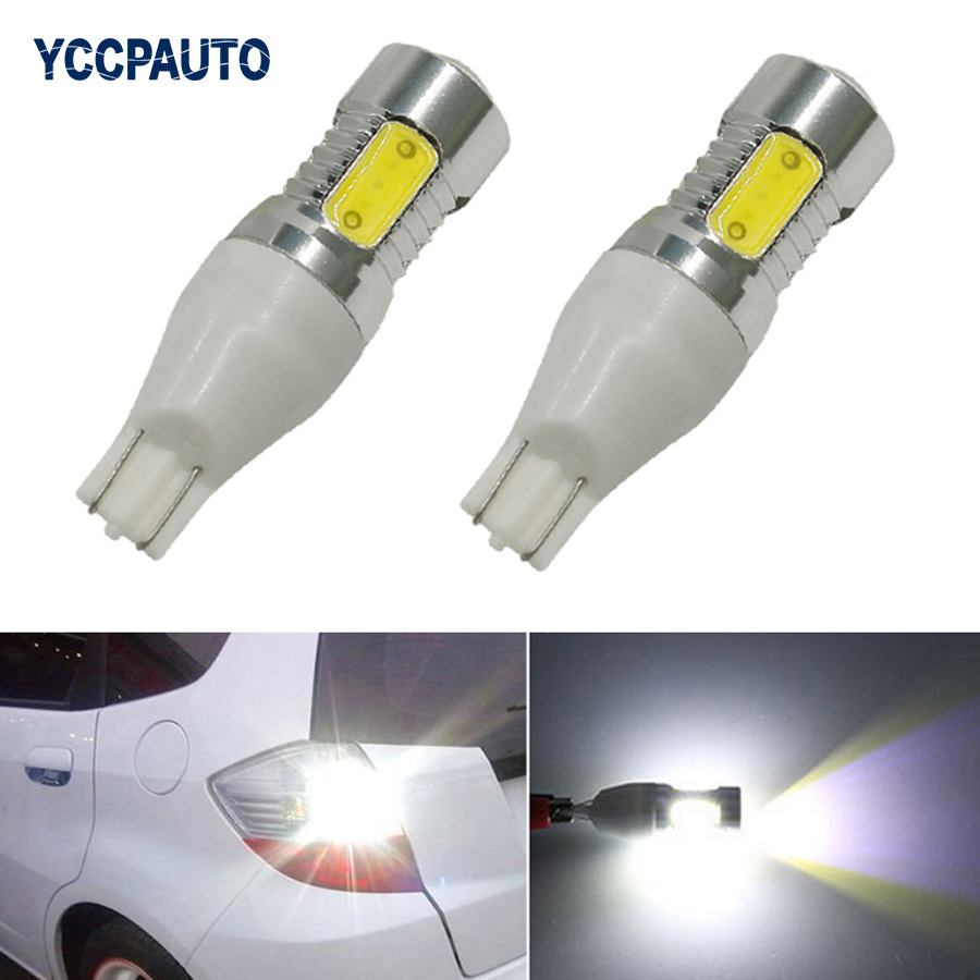 T15 LED Light W16W White Bulbs Car Reverse Parking Lights 7.5W 5COB With Lens High Quality Xenon Car Brake Lamp DC12V 2Pcs 2pcs brand new high quality superb error free 5050 smd 360 degrees led backup reverse light bulbs t15 for jeep grand cherokee