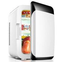 Famous Brand 2 In 1 Mini Car Refrigerator 8L Dual Use 12V / 220V Mini Home Car Fridge Cooler Box