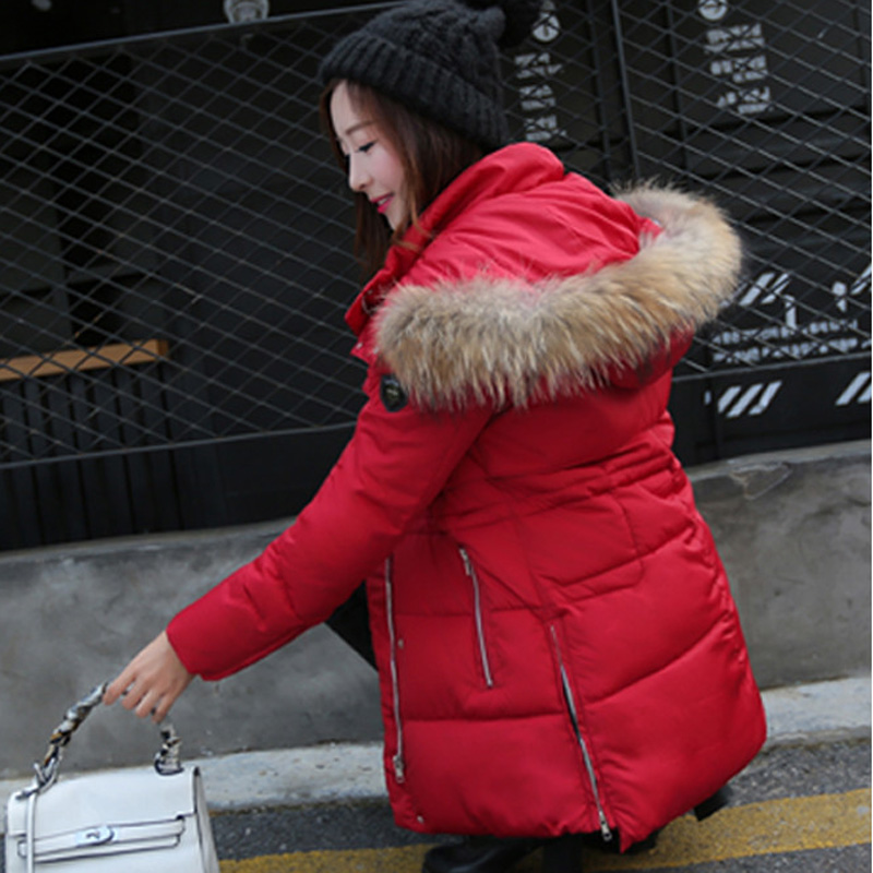 Здесь можно купить  2015 New Female Thick Down Cotton Padded Jacket Long Sections Slim Luxury Fur Collar Hooded Down Winter Coat Outerwear WY100 2015 New Female Thick Down Cotton Padded Jacket Long Sections Slim Luxury Fur Collar Hooded Down Winter Coat Outerwear WY100 Одежда и аксессуары