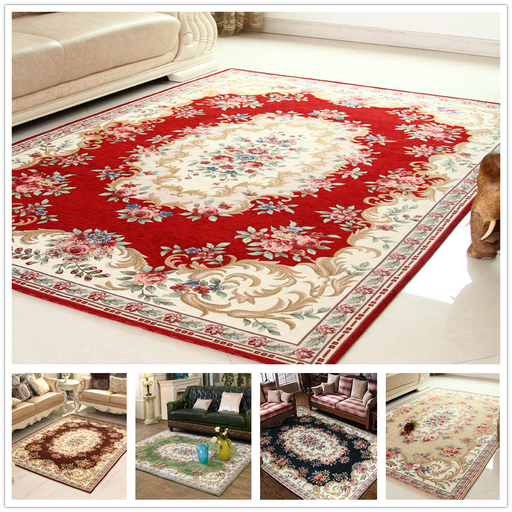 Top Grade Jacquard Living Room Parlor Rugs Corridor Large Size Bath Mats Bedroom Carpet Home Hotel Decor