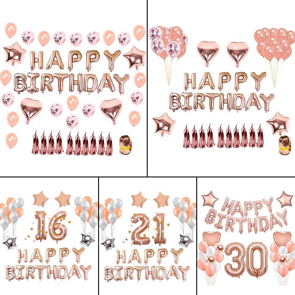 Alohar 37pcs Rose Gold Party Decorations