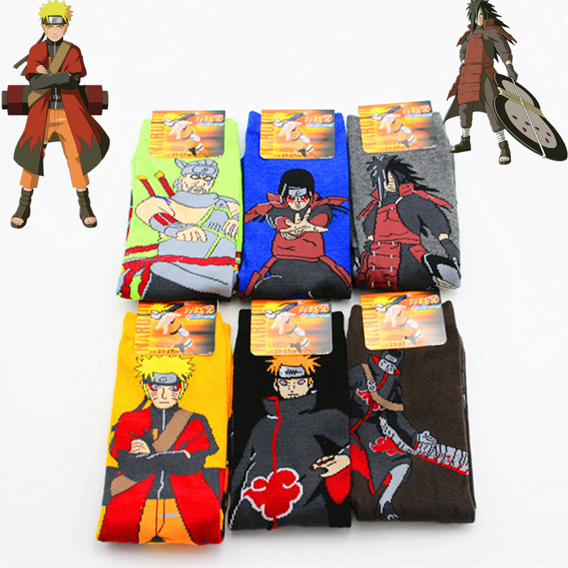 Naruto Uzumaki Naruto Cosplay Props Sock Anime Pein Uchiha Madara Spring Autumn Socks Women Men Halloween Party Gifts