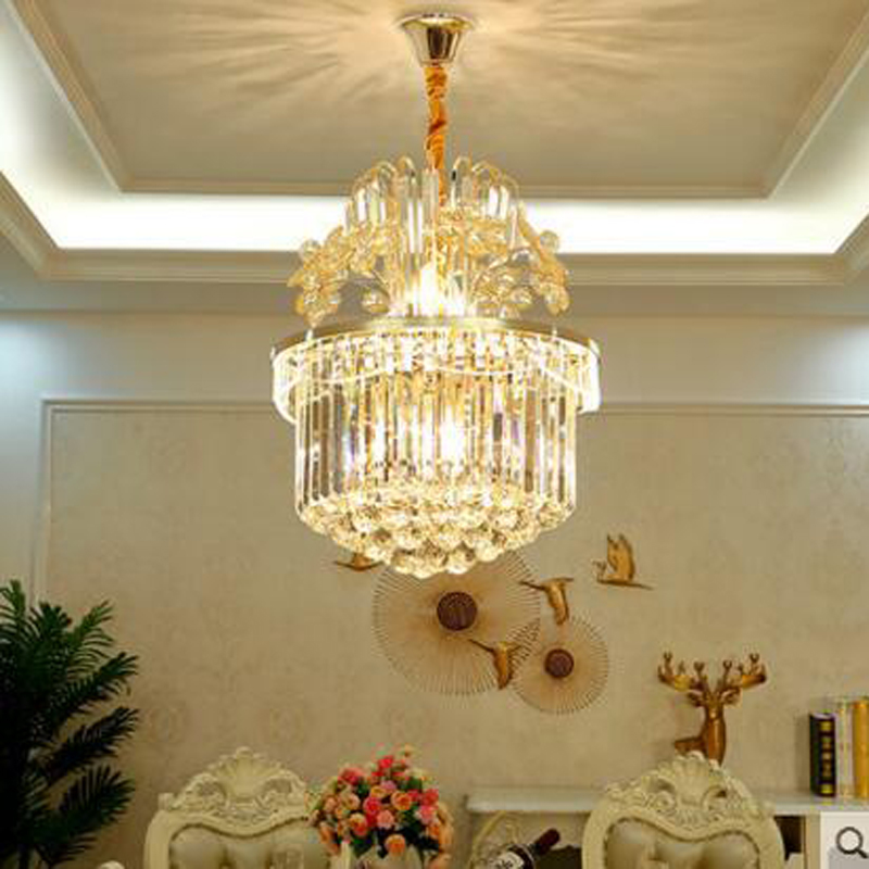Restaurant Chandelier European Crystal Chandelier Modern Simple Dining Room Lamps Luxurious Atmosphere Home Bedroom Living Room living room crystal chandelier luxury model room after the modern minimalist nordic bedroom dining room chandelier crystal lamps
