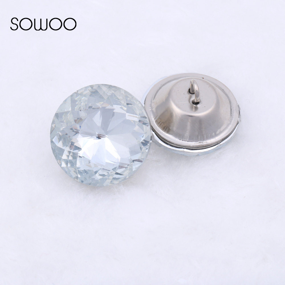 Glass Buttons Upholstery Nail Stud Sofa Bed Headboard Decoration The Latest Fashion Dashing Free Shipping 50pcs/lot 20mm Zijinhua Crystal Buttons