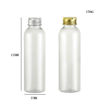 56ff5303bc72 US $24.29 12% OFF|120ml clear cream bottle with aluminum cap 120cc pet  Cream Shampoo bottle 4oz plastic bottle, cosmetic pakaging-in Refillable ...