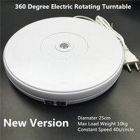 10 25cm Led Light 360 Degree Electric Rotating Turntable for Photography Max Load 10kg 220V 110V