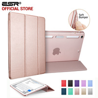Case For IPad Mini 1 2 3 ESR PU Leather Translucent Back Hybrid Soft Corner Ultra