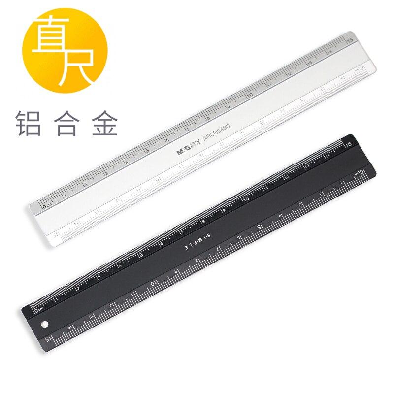 M&G Aluminum Alloy Ruler 15cm ARLN0480 Straight Ruler Student Use Straightedge Sewing Ruler Pattern Making Ruler 1PCS