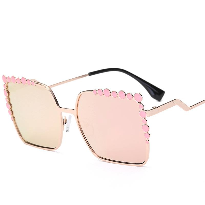 SOZO TU Big Frame Square Women Sunglasses Women Brand Designer Hollow Flower Sun Glasses Female Glass UV400 Oculos De Sol Gafas