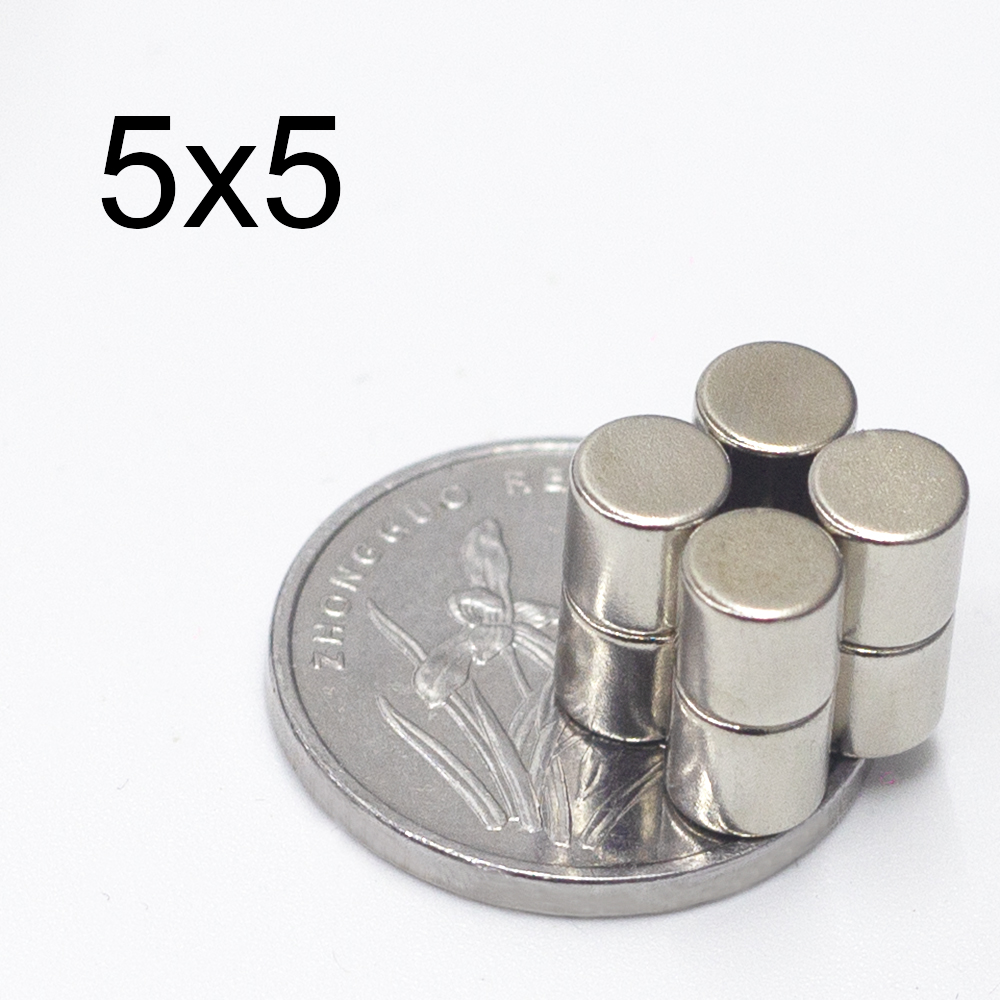 20/50/100/200/500Pcs Neodymium Magnet 5mm X 5mm N35 NdFeB Small Round Super Powerful Strong Permanent Magnetic Imanes Disc 5x5