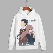 Cichy głos Nishimiya Shouko Cosplay Koe No Katachi ishida shouya nadrukowany sweter z kapturem bluzy polar z kapturem na jesień