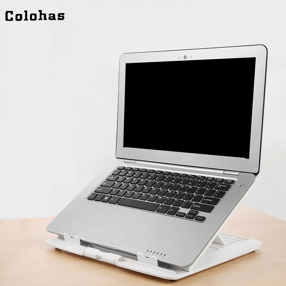 Foldable Laptop Stand 6 Gear Adjustable Computer Brackt For Macbook Air Pro Notebook Stand Holder Anti-slip Portable Lapdesk