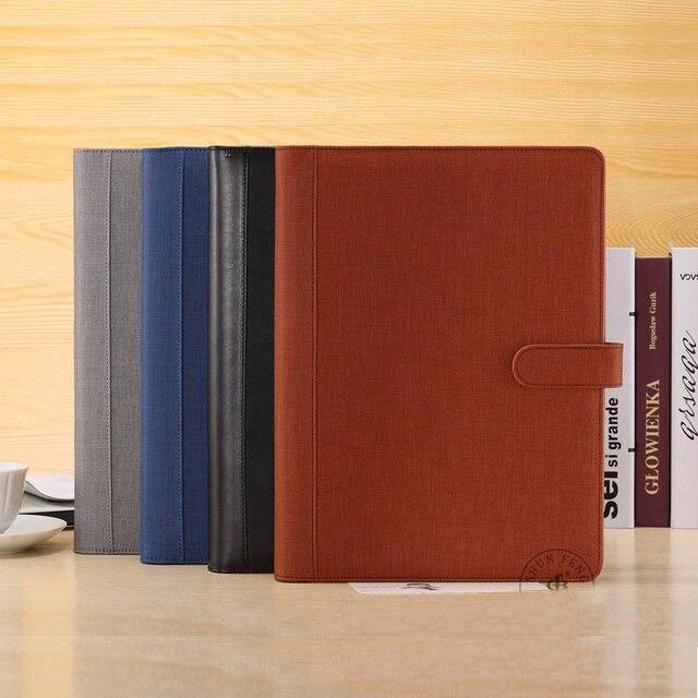 24c6cb62fede3 A4 teczka skórzana teczka na dokumenty wielofunkcyjny organizator planner  notebook kołowych do segregatorów A4 folder plików