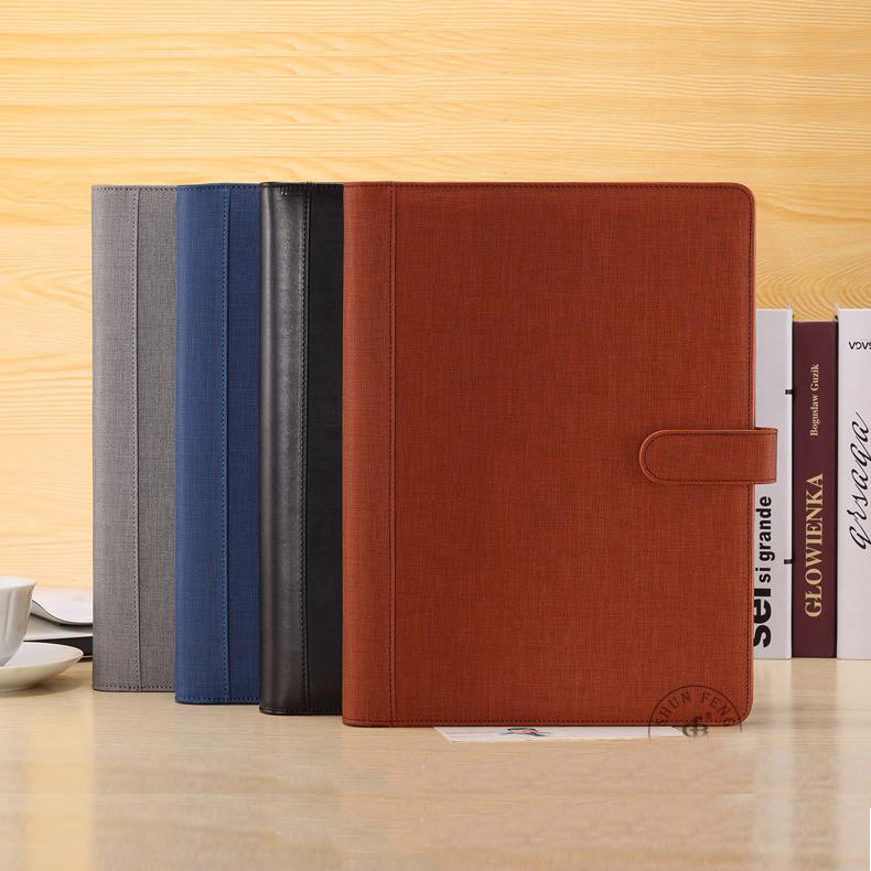 A4 Leather Folder Padfolio Multifunction Organizer Planner