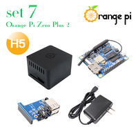 Orange Pi Zero Plus 2 H5 Set 7: Zero Plus 2 H5+Protective Case+Expansion Board+OTG Power Supply,  development board