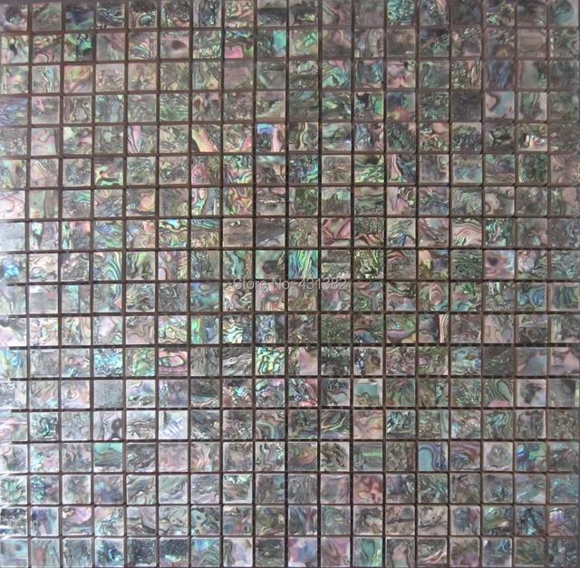 4 Pcs Green Abalone Shell Mosaic Tile Ceramic Tiles For Bathroom