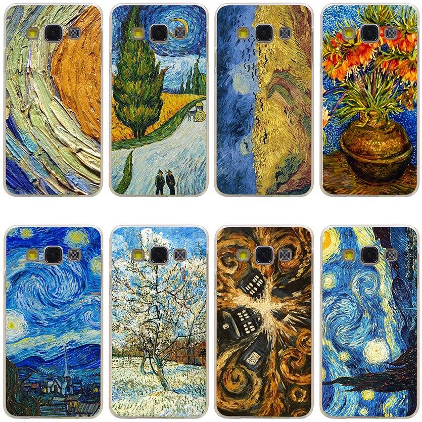 Van Gogh Tardis Harter Klarsichtdeckel Fall für Samsung Galaxy A3 A5 J5...