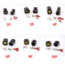 1SET 2/3/4/6/8/10 Pins Way Waterproof Wire Connector Plug Car Auto Sealed Electrical Set Car Truck connectors(China)