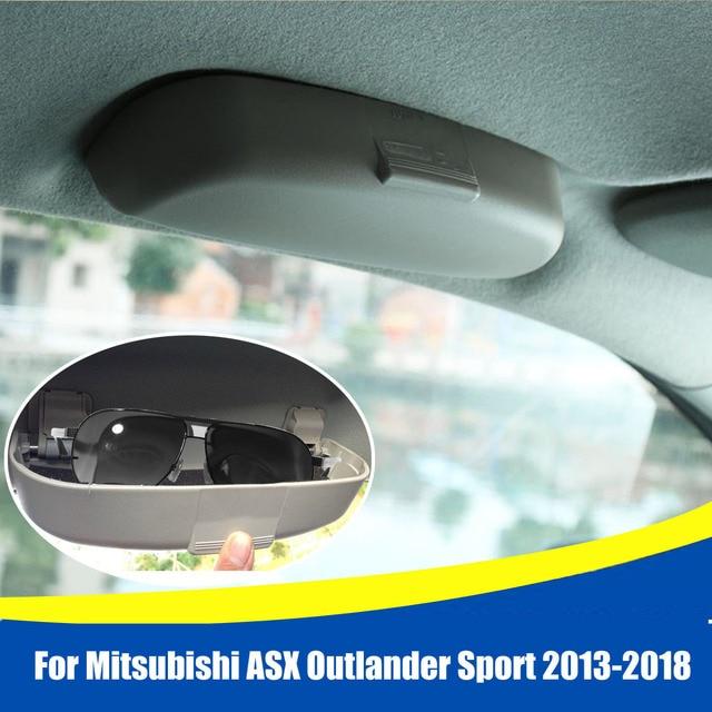 Audew Car Front Sun Glasses Case Box Sunglasses Holder Glasses Case for Mitsubishi ASX Outlander Sport 2013-2018 Car Accessories