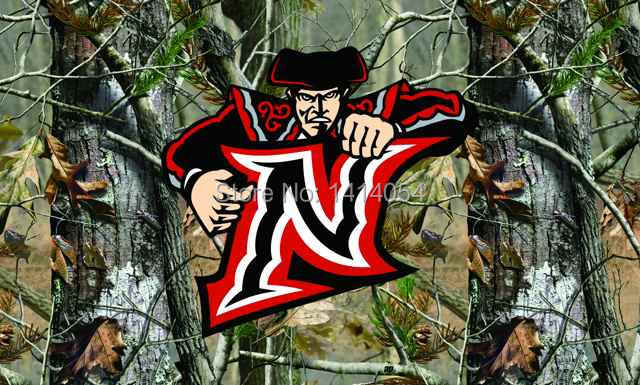 Northridge Matadors real tree camo Flag150X90CM NCAA 3X5FT Banner 100D Polyester grommets custom009, free shipping