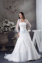 free shipping winter dresses fashion 2013 bride long chiffon sexy handmade custom lace jacket white/ivory wedding